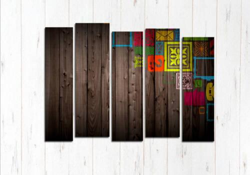 Модульная картина Абстрактные доски