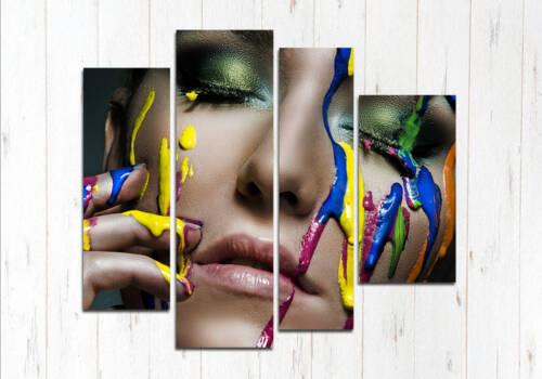 Модульная картина Лицо и краска