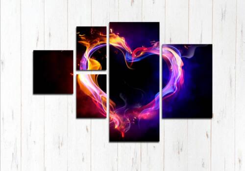 Модульная картина Абстрактное сердце