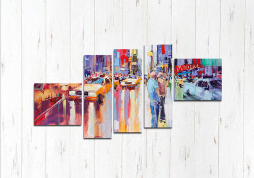 Модульная картина Абстрактный Нью-Йорк