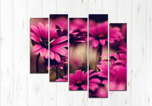 Модульная картина Цветульки