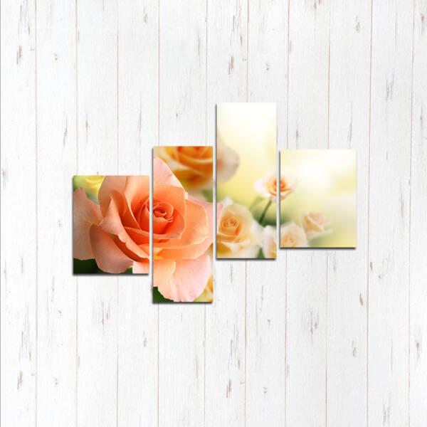 Модульная картина женственная роза