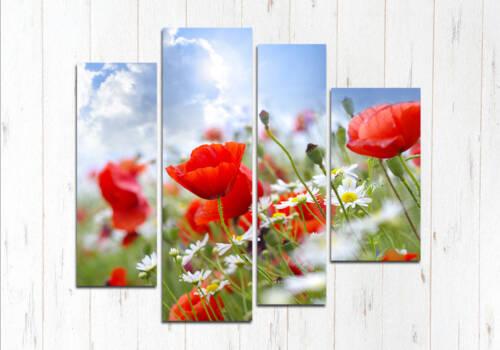 Модульная картина Нежная цветы