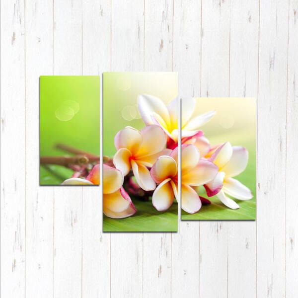 Модульная картина Перекрастные цветы