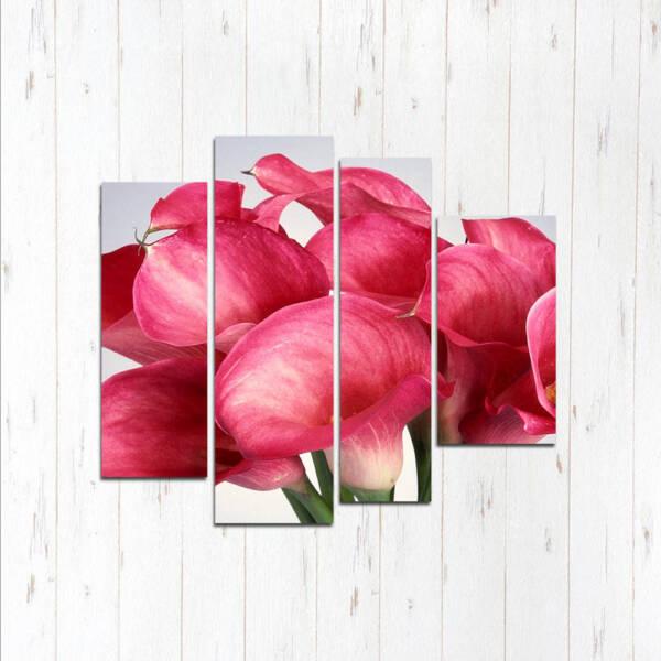 Модульная картина Розовая феерия