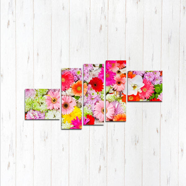 Модульная картина Микс цветов