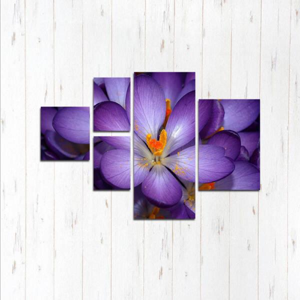 Модульная картина Фиолетовый цветок