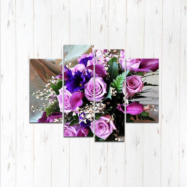 Модульная картина Фиолетовый букет
