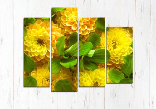 Модульная картина Желтый букет