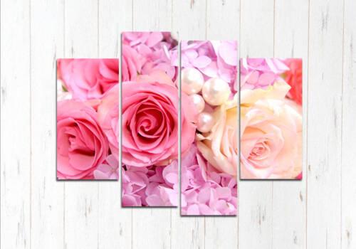 Модульная картина Жемчужные розы