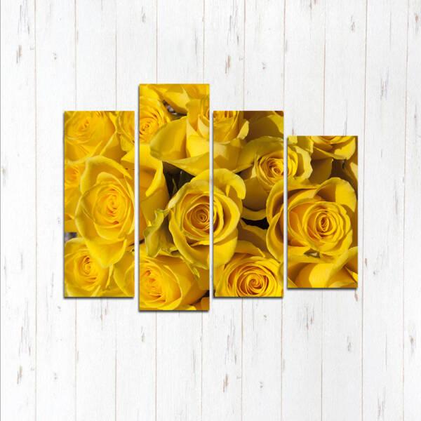 Модульная картина Желтые розы