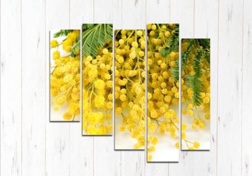 Модульная картина Желтая мимоза