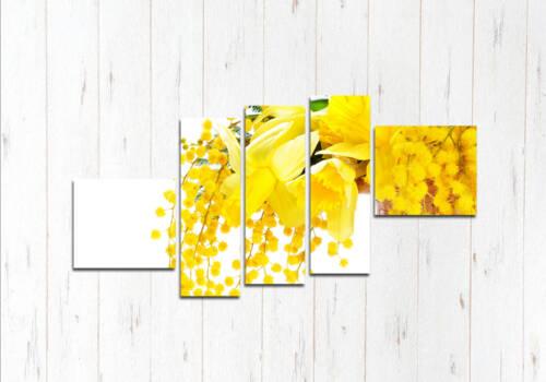 Модульная картина Желтый луч