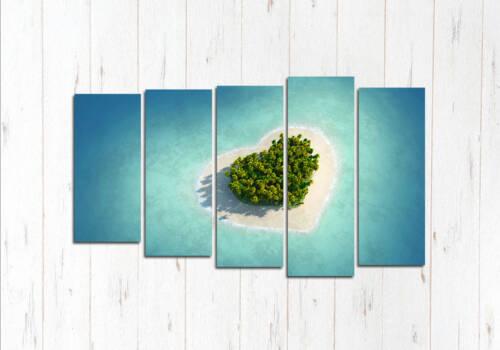 Модульная картина Остров Любви