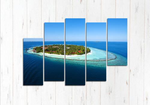 Модульная картина Лазурный остров