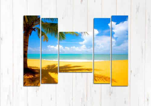 Модульная картина Золотой пляж