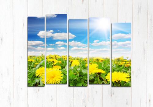 Модульная картина Солнце в цветах