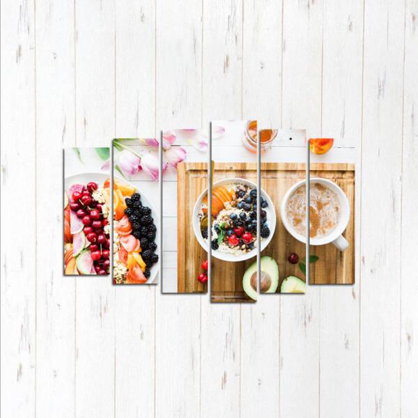 Модульная картина Сладкий завтрак