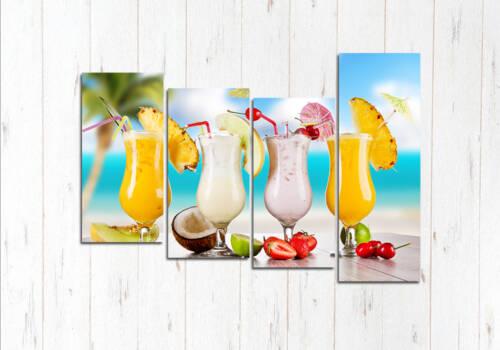Модульная картина Пляжный коктейль