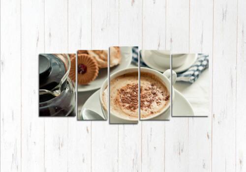 Модульная картина Кофе с корицей
