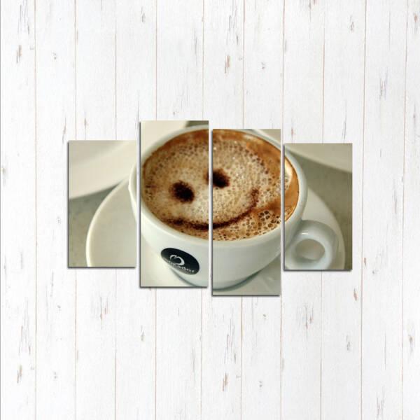 Модульная картина Кофе смайл