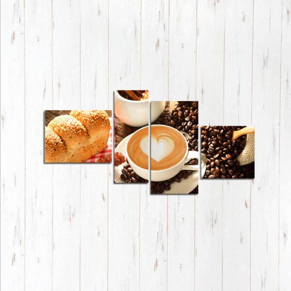 Модульная картина Завтрак любви