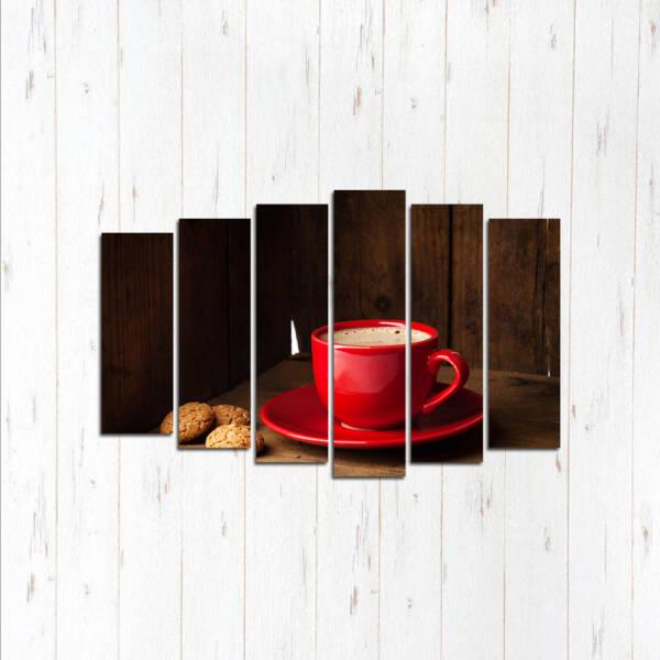 Модульная картина Красная чаша