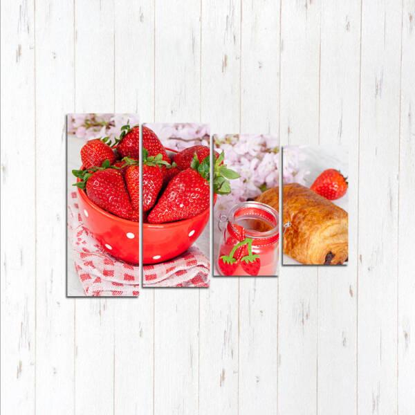 Модульная картина Клубничный завтрак