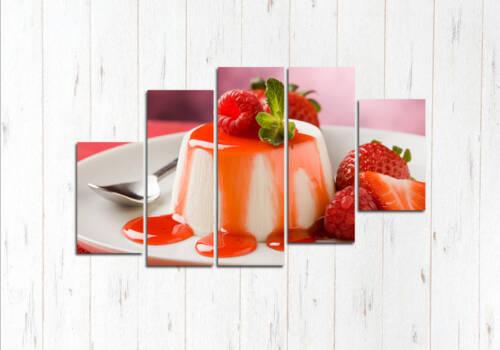 Модульная картина Клубничный десерт