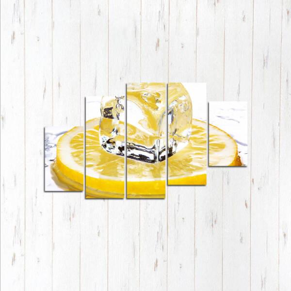 Модульная картина Лимонный лёд