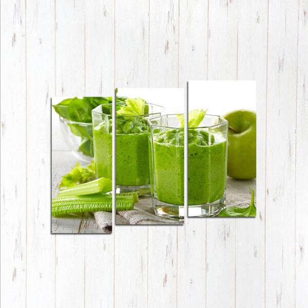 Модульная картина Зелёный пунш