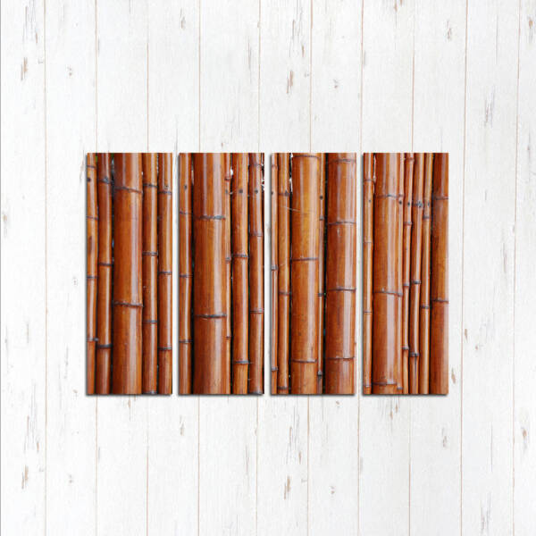 Модульная картина Бамбуковый забор