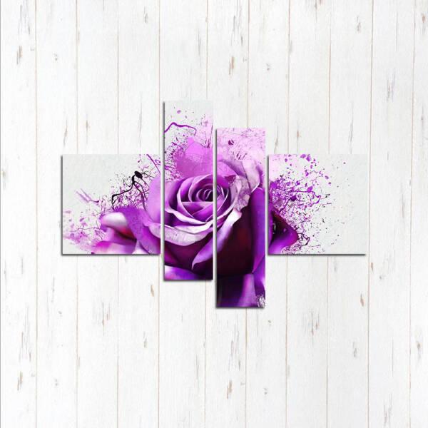 Модульная картина Роза фиолет
