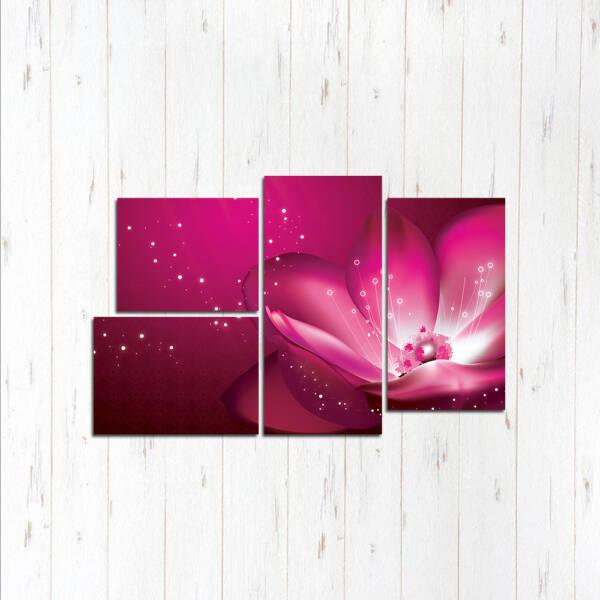 Модульная картина Жемчужный цветок