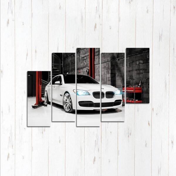 Модульная картина Белая 530 БМВ
