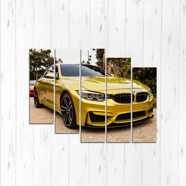 Модульная картина Золотая тройка BMW