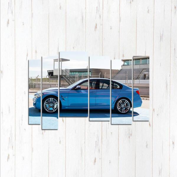 Модульная картина BMW 3 с боку