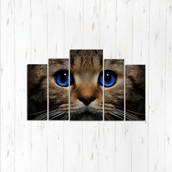 Модульная картина Синие глазки