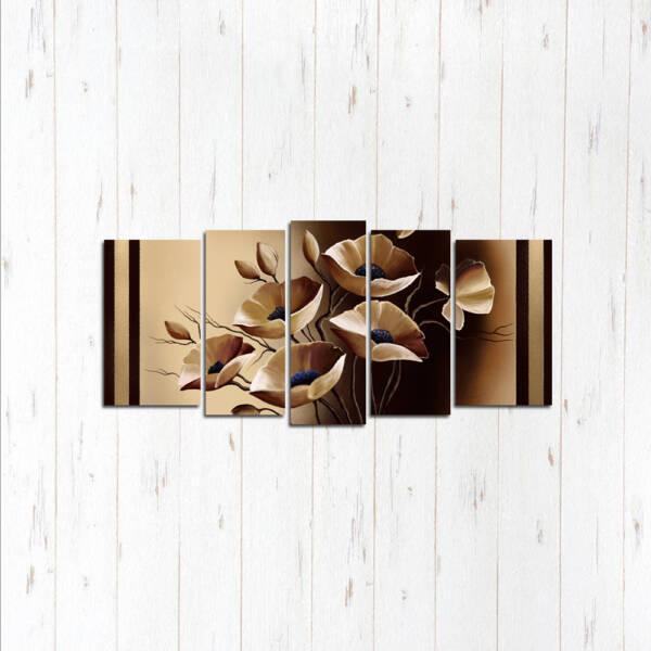Модульная картина Кофейные цветы