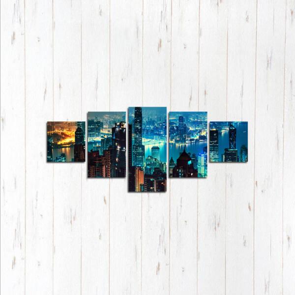 Модульная картина Город ночи
