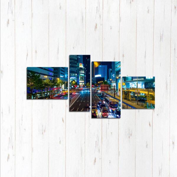 Модульная картина Суета мегаполиса