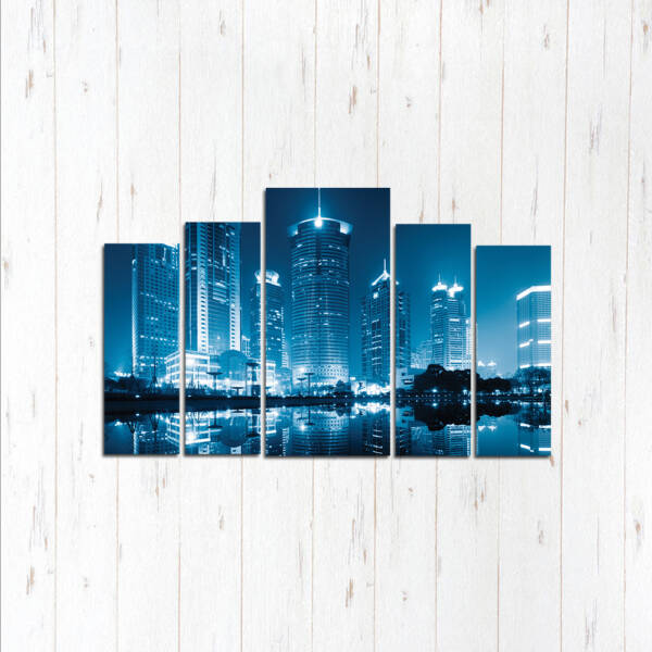 Модульная картина Синий город