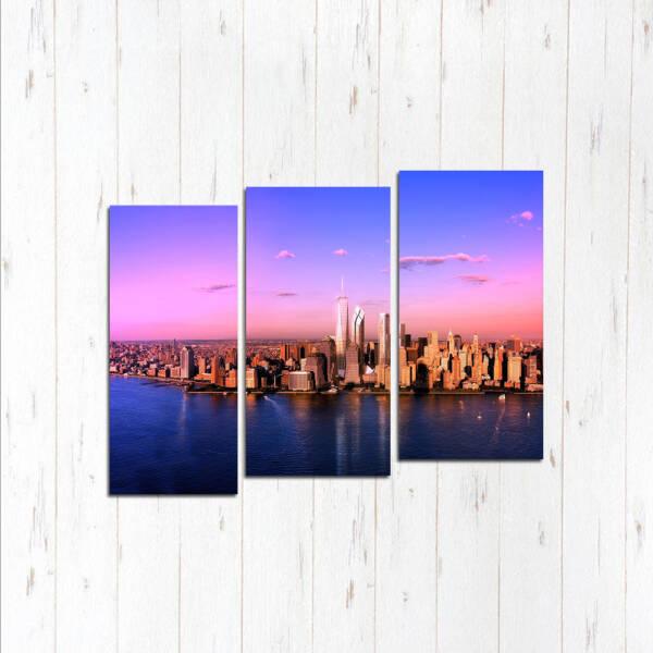 Модульная картина Розовый Нью-Йорк