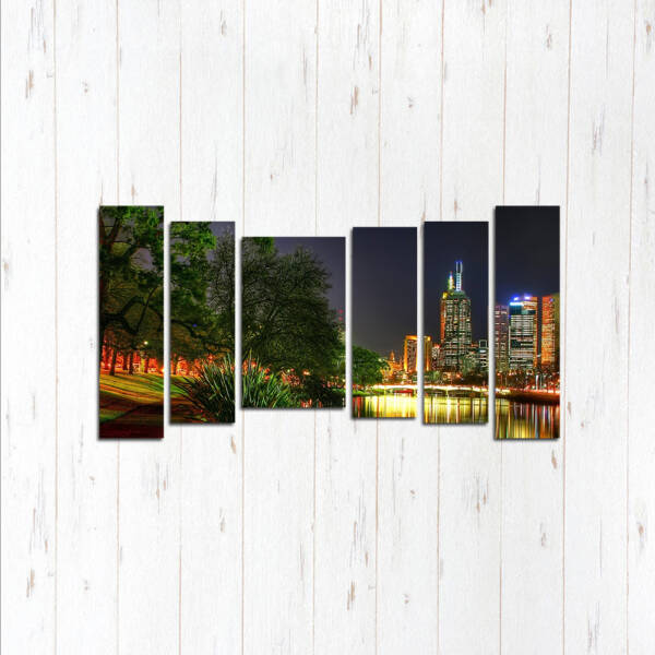 Модульная картина Яркий город