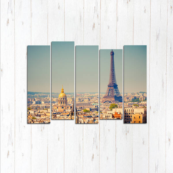 Модульная картина Светлый Париж