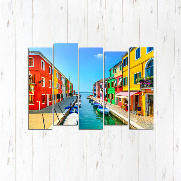 Модульная картина Яркая Венеция