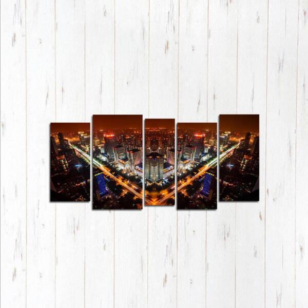 Модульная картина Квадратный город