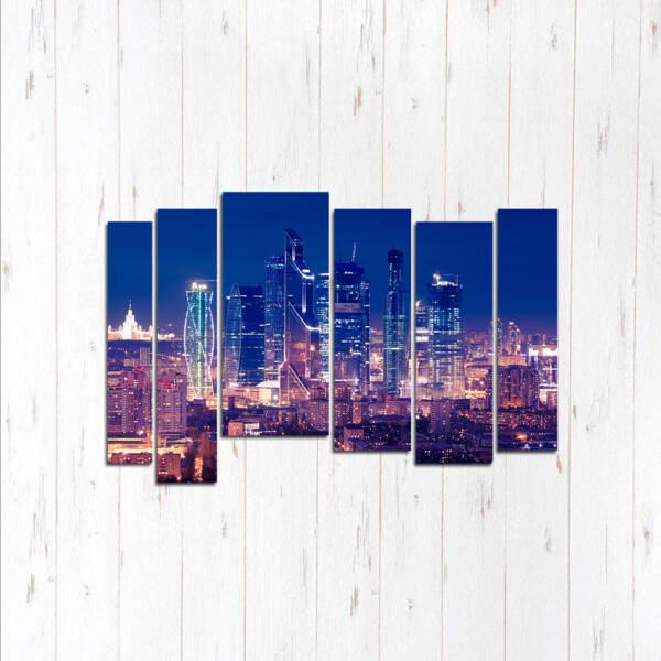 Модульная картина Стеклянный город