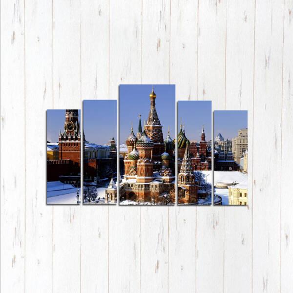 Модульная картина Зимний Кремль