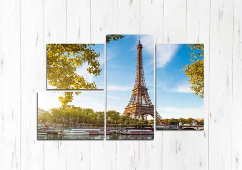 Модульная картина Величие Эйфелевой башни